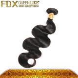 完全なクチクラ100%の人間の毛髪の拡張自然な波状の中国の毛