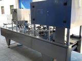 Máquina de rellenar rotatoria comercial automática del helado de la taza de papel