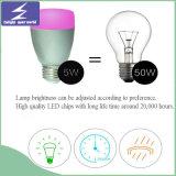 E27 5W WiFi RGB 제광기 LED 공 전구 화소 빛