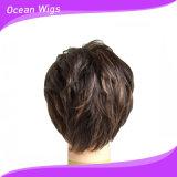 Peruca sintética curta do cabelo com a peruca 100% sintética da fibra de Kanekalon (SW-201)