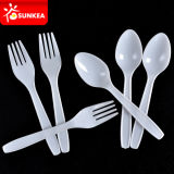 Plastic jetable Cutlery Set dans Silver Finish