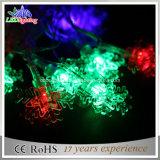 Éclairage solaire coloré de jardin de 20 DEL et lumières solaires de chaîne de caractères de la forme DEL de flocon de neige de lumières de chaîne de caractères de DEL