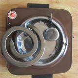 Horno de interior de la cocina del mini solo Hotplate eléctrico ajustable de la bobina