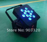 Luz sem fio profissional da bateria do diodo emissor de luz de Rgbawuv 18W DMX