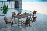 8-10personによって表が付いている一定の椅子をを使用して食事するスタック可能アルミニウム柳細工の屋外の家具の庭(YTA362-1&YTD020-4)
