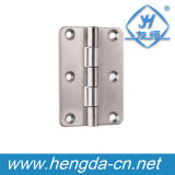 Dobradiça do armário do metal do aço Yh9411 inoxidável/dobradiças de porta perfuradas carimbadas
