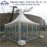 Parte de pared de vidrio de PVC personalizada Actividad Carpa Pagoda