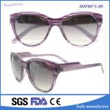 Gafas de sol 2017 de los vendedores ambulantes de Eyewear de las mujeres polarizadas de gran tamaño plásticas del camuflaje
