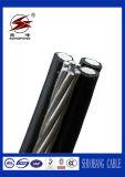 De XLPE/PVC tamaño liado aéreo del cable del ABC del cable por encima