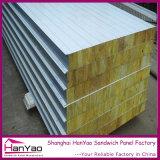 絶縁された耐火性の鋼鉄岩綿サンドイッチパネルの天井板の壁パネル