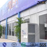 Aquecimento industrial e assoalho refrigerando que estão o condicionador de ar comercial central