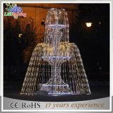 クリスマスの装飾ライト休日ライト白くおよび青のクリスマスLEDの軽い3Dモチーフの噴水ライト