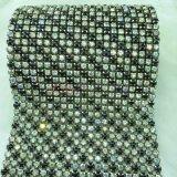 다채로운 수정같은 메시 직물 모조 다이아몬드 트리밍 메시