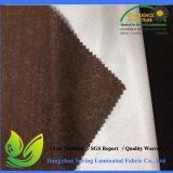입히는 브라운 색깔 PU는 뜨개질을 한 매트리스 직물을 방수 처리한다