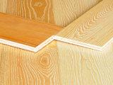 La cendre blanche a machiné le plancher en bois de relief