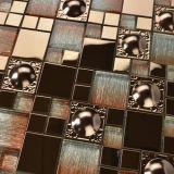 Precio competitivo Cristal mixto de baldosas de acero inoxidable del mosaico (FYMG088)