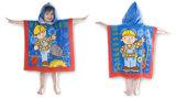 Poncho estampé par gosses qualifié par vente en gros de Bath de poncho de plage de coton