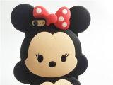 点の弓倍の人形のかわいいMinnieのシリコーンの携帯電話の箱(XSD-056)