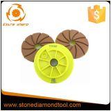 tampone a cuscinetti per lucidare stridente del bordo della resina del diamante di 125mm per la pietra