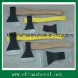 Ascia russa di stile dell'ascia con la maniglia di legno del rivestimento di plastica della maniglia