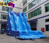 Inflatable blu profondo gigante Slide per l'adulto