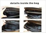 브라운에 있는 남자의 Genuine Leather Handbag