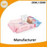 Sorgfalt-preiswerte Baby-Wischer der Haut-80PCS im Zylinder