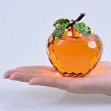 80mm Crystal Apple voor Presse-papier of Wedding Favor Gift