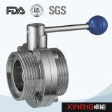 ステンレス鋼のハンドルの衛生溶接された蝶弁(JN-BV1004)