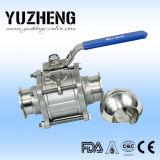 Válvula de esfera sanitária Dn65 da extremidade da braçadeira de Yuzheng
