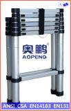 Telescopische Ladder van het Aluminium van de Uitbreiding van de Kruk van de Stap van het Huishouden van het staal de Uiteindelijke (ap-509-340)