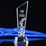 Nuevo diseño Crystal Award trofeo con el logotipo personalizado