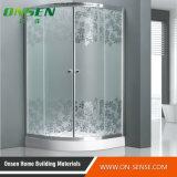 Quarto de chuveiro de alumínio personalizado da porta deslizante para o banheiro