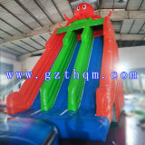 Polipo Inflatable Water Slides/Giant Inflatable Water Slide/Inflatable Slide con Pool