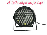Mini LED PAR Can 54PCS * 1W / 3W LED PAR Light para Stage