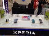 Indicadores de varejo alarmados & cobrando da loja do telefone móvel dos indicadores da segurança…
