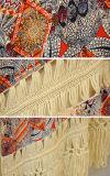 Свитер кардигана Cochet женщин фольклорный с рубчиком края