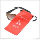 Bolsa extrafina roja de las gafas de sol de la impresión de la pantalla de la fibra