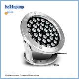 Iluminación subacuática al aire libre caliente de la lámpara 18W IP68 LED Uplight 18W LED de la fuente de la venta LED (HL-PL18)