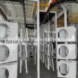 Sistema di rivestimento rispettoso dell'ambiente della polvere con il ponticello che cura forno