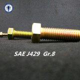 Hex Kopf-Kopfschrauben-/Schrauben-Zink-Gelb SAE-J429 Gr. 8