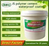 Capa impermeable del cemento del polímero de Js/material impermeable de la capa/de construcción