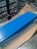 Material para techos acanalado colorido de la hoja del material para techos del metal/del metal del color