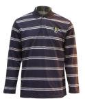 Long polo de teinture de filé de chemise d'hommes