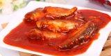 Sardinha enlatada da exportação tampa aberta fácil no molho do tomate