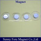 Hergestellter Belüftung-Deckel-runder Magnet mit Metallcup-Taste