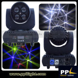 Mini Beam 4X15W LED Moving Head Stage Lighting com lente de rotação
