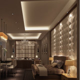 Painéis decorativos da telha da parede do efeito do PVC 3D da decoração do projeto simples