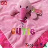 Flamingo cor-de-rosa e cobertor principal animal verde do bebê de Gator