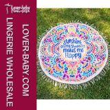 Циновка пляжа гобелена Mandala Hippie круглая (L38341)